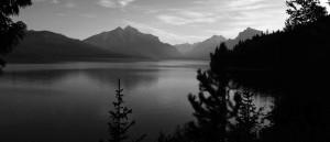 scénique, montagne, lac, glacier, parc national