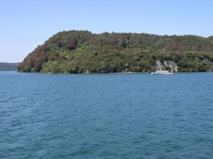 Calme, lac, Tarawera, plage