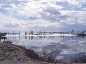 тундра, езеро