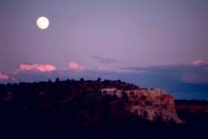 moon, scenics, monument, mountain