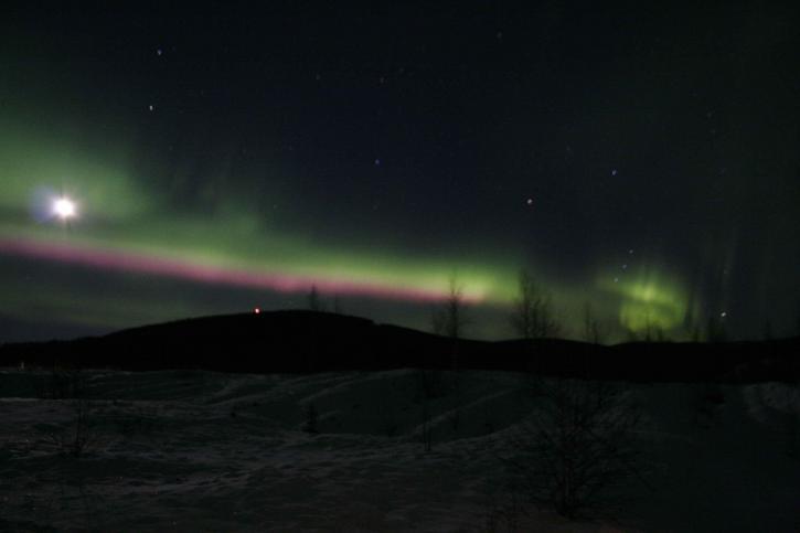 aurores boréales, l'Alaska, l'aurore, borealis, lumières, nuit