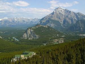 Banff, Canadá, azufre, montaña, góndola