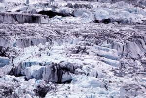 Bering glacier, montagnes, neige, glace