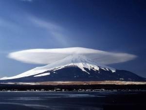 cloud, mountain