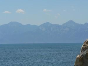distant, mountains