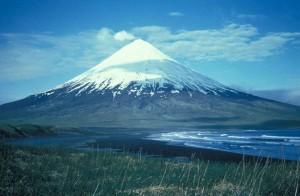 montagne, Cleveland, Chuginadak, île, mountain, volcano