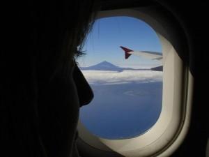 mountain, window