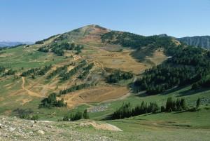 montagne, sommet, l'enlèvement, la bande, l'exploitation minière, les dommages, colline
