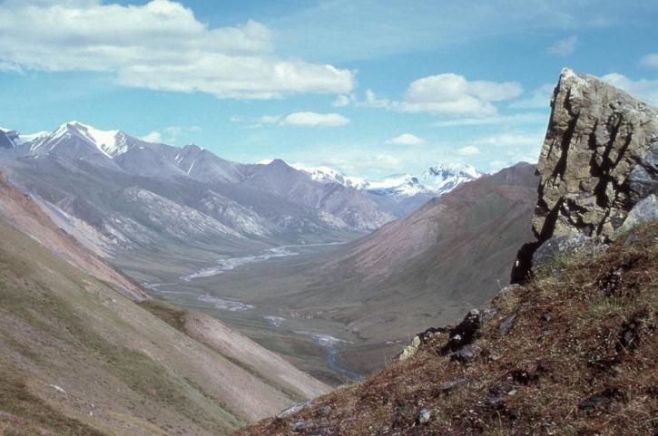 montagne, vallée, panorama