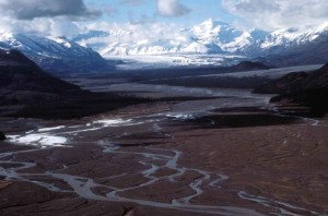 montagnes, glacier, hiver