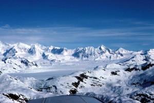 prince, William, son, Chugach, montagnes