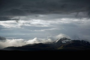 scenic, mountain, clouds, distance