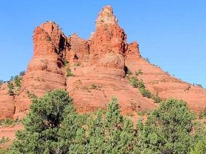 sedona, mountain, red