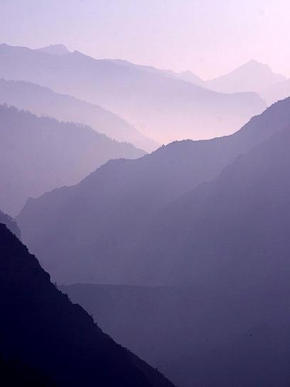 smokey, mountains, haze