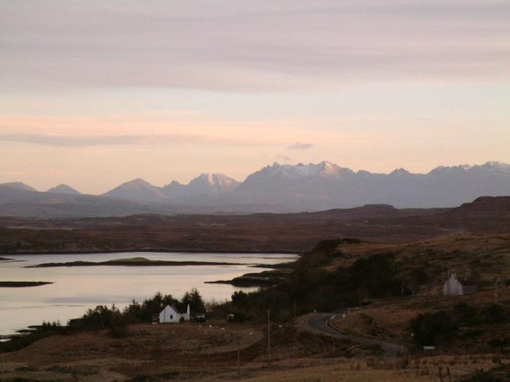 Cuillin, mountains, isle, skye, Scotland