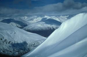 snødekte, fjell, Stugeon, Alaska