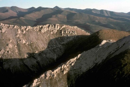white, mountain, landscape
