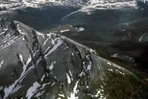blanc, montagnes, scénique