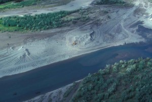 gravel, extraction, aerial perspective