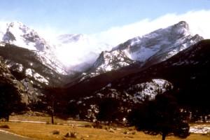 billede, Estes, park, Colorado, landskab