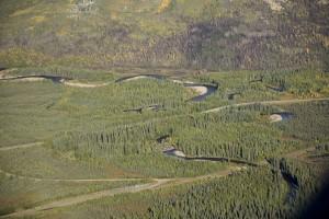 kanuti, rivière, Bettles, hiver, route