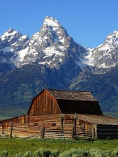 Mormon, baris, gudang, grand Teton, Taman Nasional