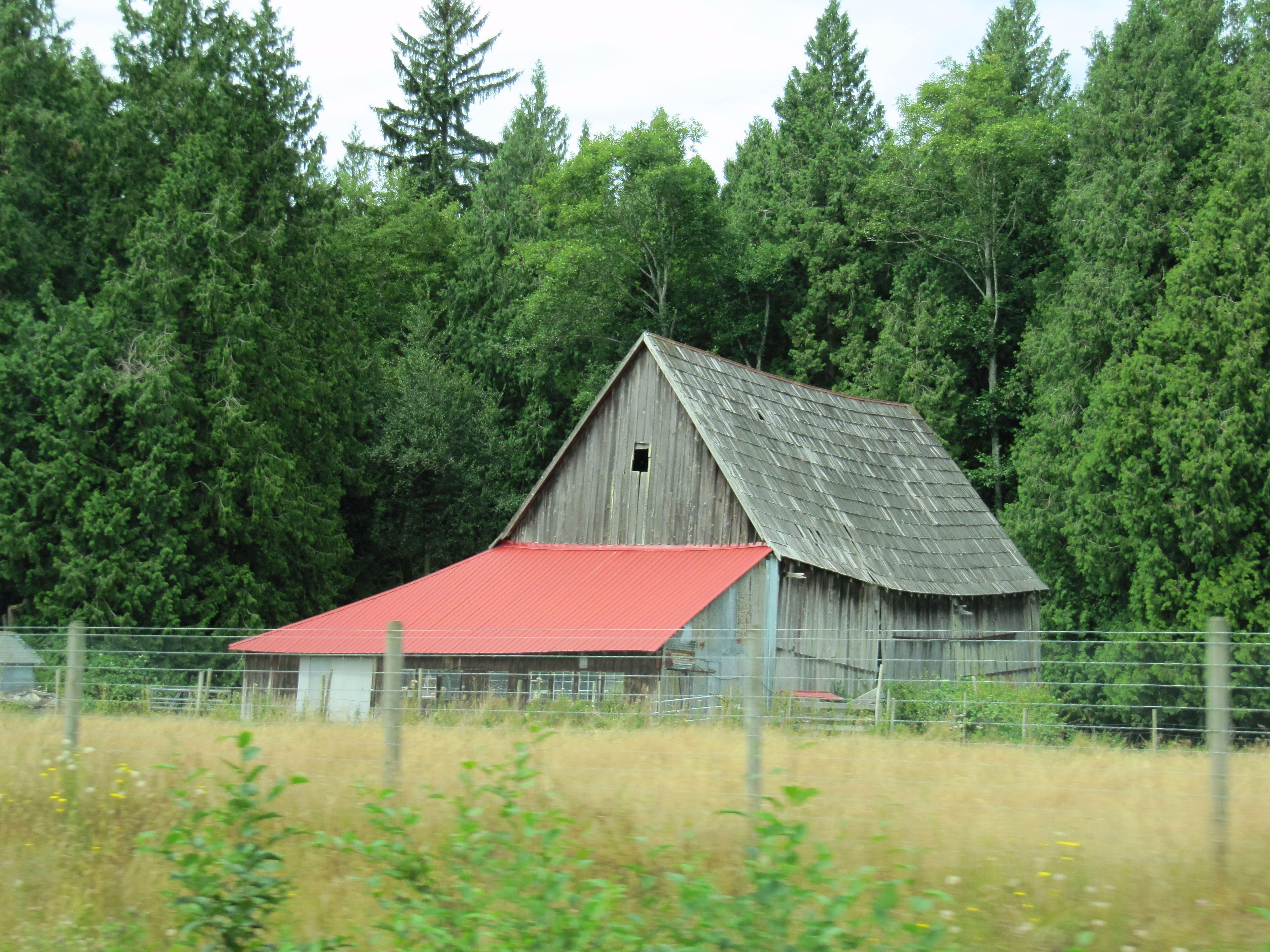 Free photograph; old, barn, Washington