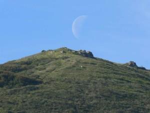 månen, stiger, Bruno, fjell, toppmøtet