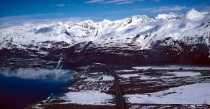 distância de Valdez, no Alasca,