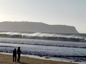 beach, ocean, waves, sand