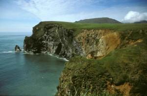 ocean, top, high, cliffs