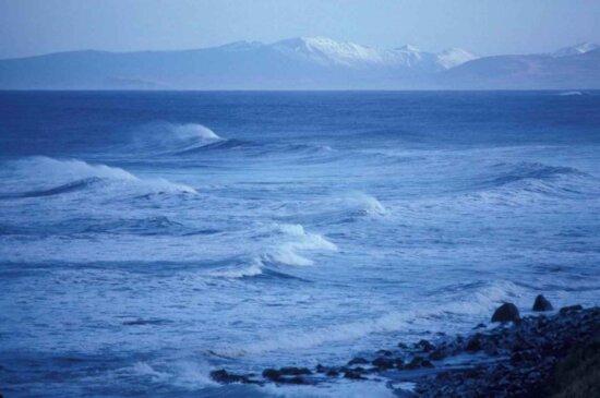 ocean, landscape, shore