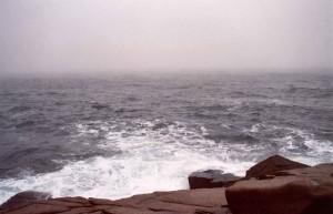 ocean, waves, crashing, rocks
