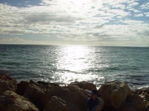 Pacifico, oceano, sole, rocce