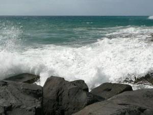 waves, breaking, ocean, coast