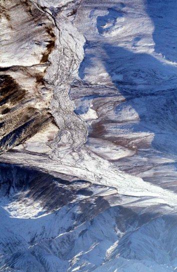aériennes, ruisseaux, gamme, Alaska