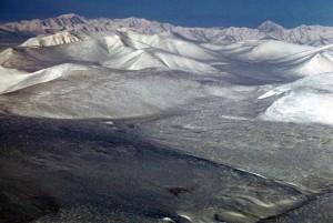 항공, 눈, 산, 봉우리, 겨울