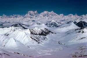 alaska, mountain, range, aerial perspective