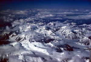 alaska, gamme, la perspective aérienne