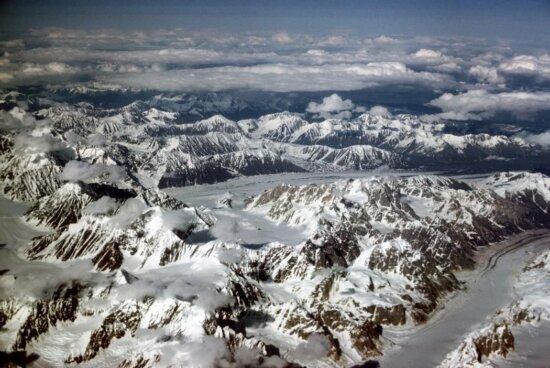 alaska, range, mountain, peaks