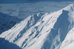 산, 봉우리, 눈 커버