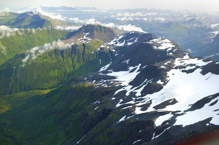 mountain, peaks, aerial perspective