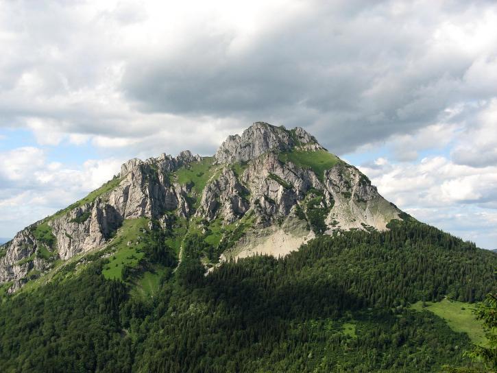 rocky, peak, close