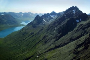 rugged, mountain, tops