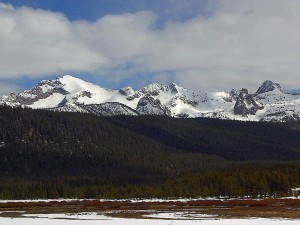 sawtooth, mountains, snow, peaks