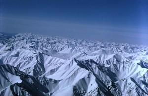 neve, coperto, montagna, picchi
