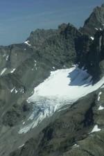 Snowslide, montagne, sommets