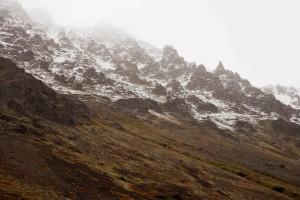 Akk, snø, dekket, ridgeline