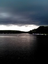 rain, cloudy, weather, lake