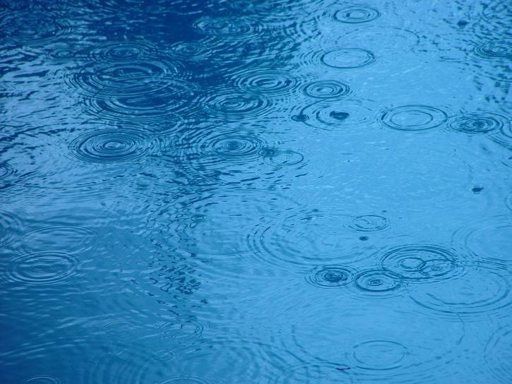 gocce di pioggia, l'acqua